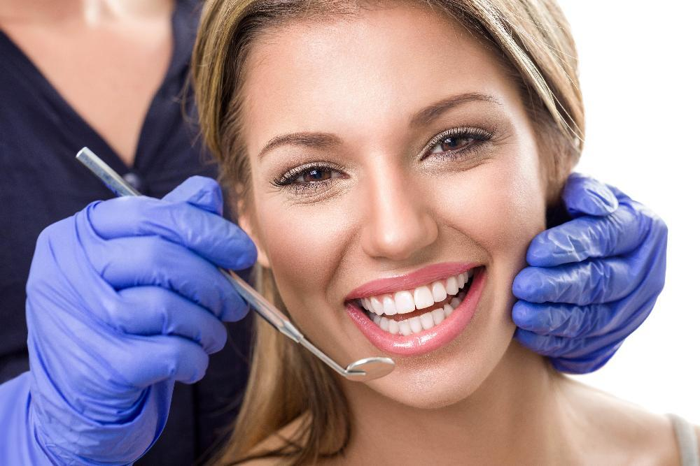 Patient after teeth whitening service in Poway CA